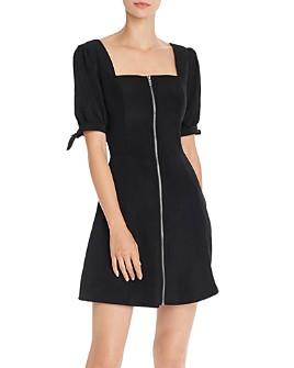AQUA - Square-Neck Zip-Front Dress - 100% Exclusive