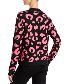 Line & Dot - Civet Leopard Jacquard Sweater