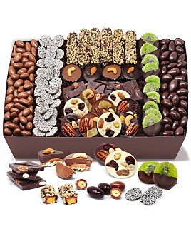 Chocolate Covered Company - Premium Belgian Chocolate Covered Caramel, Nut and Fruit Tray