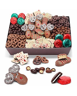 Chocolate Covered Company - Perfect Holiday Belgian Chocolate Gift Basket