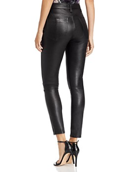 rag & bone - Nina High-Rise Leather Ankle Skinny Jeans