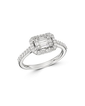 Bloomingdale's - Diamond Mosaic Ring in 14K White Gold, 0.50 ct. t.w. - 100% Exclusive