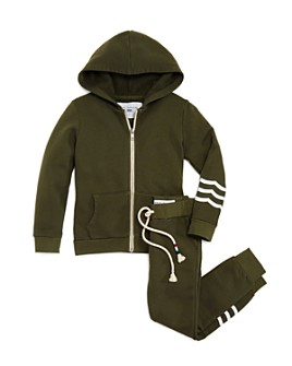 SOL ANGELES - Unisex Waves Zip-Up Hoodie & Jogger Pants - Little Kid