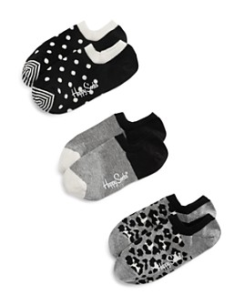 Happy Socks - Printed Ankle Socks, Pack of 3