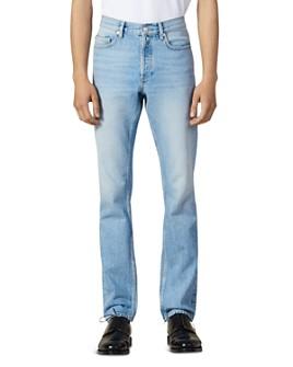 Sandro - Washed Slim Fit Jeans in Blue Vintage Denim