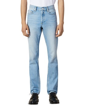 Sandro - Washed Slim Fit Jeans in Blue Vintage Denim