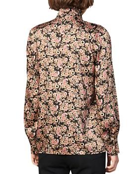 Sandro - Paisly Ruffled-Collar Shirt