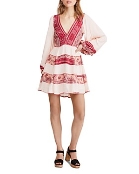 Free People - My Love Printed & Textured Mini Dress