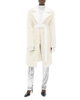 Helmut Lang - Open-Front Fringed Coat