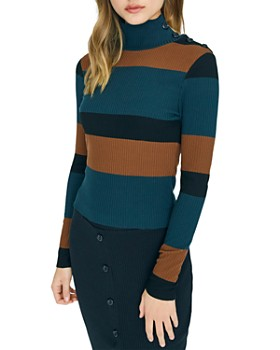 Sanctuary - Striped Turtleneck Sweater