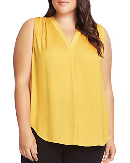 VINCE CAMUTO Plus - V-Neck Shirred Top