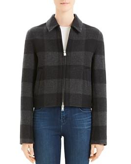 Theory - Wool Buffalo Plaid Zip Jacket - 100% Exclusive