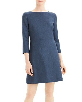 Theory - Kamillina Virgin Wool Boat-Neck Dress