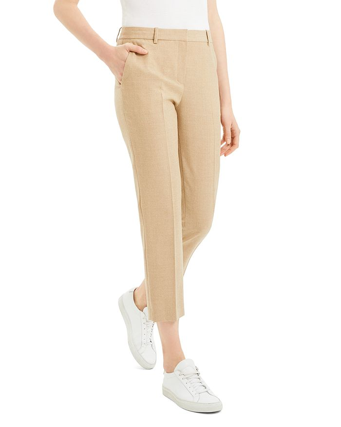 Theory Pants VIRGIN WOOL TAILORED CROPPED PANTS