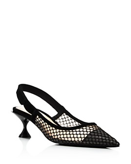 Jeffrey Campbell - Women's Emelia Slingback Kitten-Heel Pumps