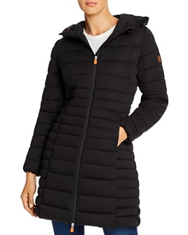 Save The Duck - Hooded Long Puffer Coat - 100% Exclusive