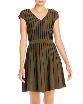 Parker - Flor Seamed Knit Fit and Flare Dress