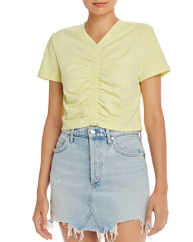 alexanderwang.t - Wash & Go Cropped Ruched Tee
