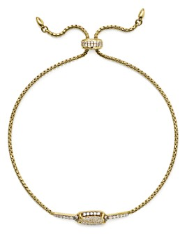 Nadri - Pavé Bolo Bracelet in 18K Gold-Plated or Rhodium-Plated Sterling Silver