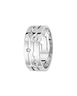 Dinh Van - 18K White Gold Pulse Medium Ring with Diamonds