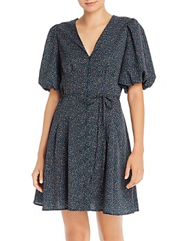 FRENCH CONNECTION - Graziana Light Floral-Print A-Line Dress
