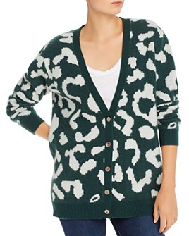 Madeleine Thompson - Danny Leopard-Printed Cashmere & Wool Cardigan