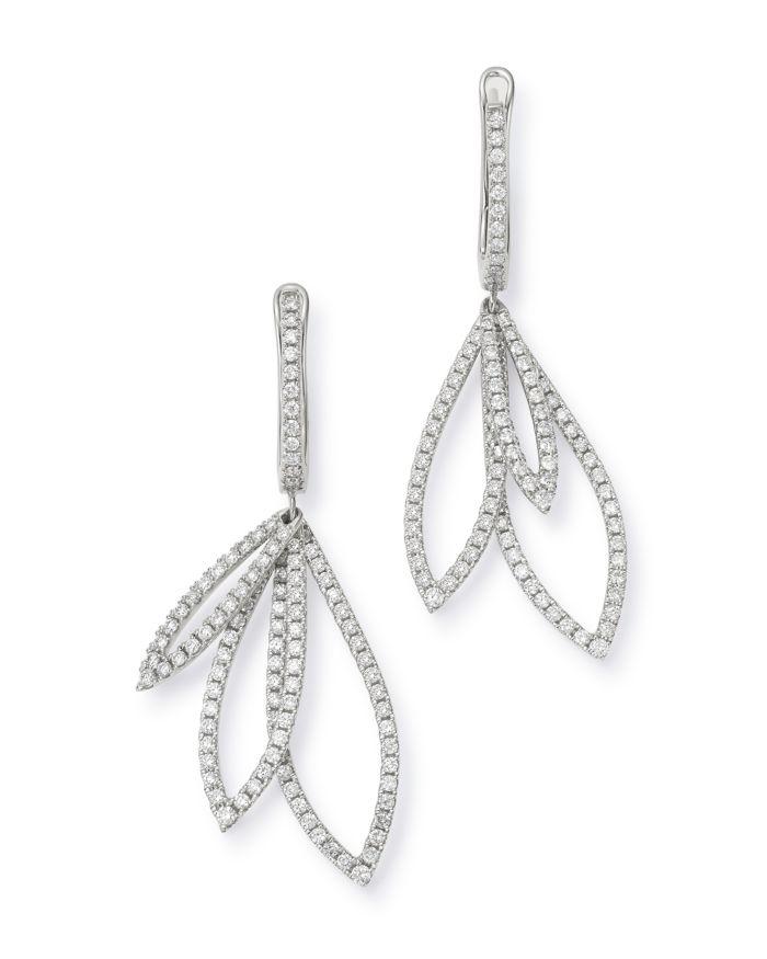 Bloomingdale's Diamond Overlapping Drop Earrings in 14K White Gold, 1.5 ct. t.w. - 100% Exclusive    Bloomingdale's