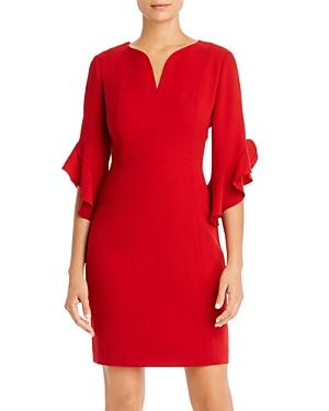 Elie Tahari Dresses NATANYA RUFFLED-CUFF DRESS