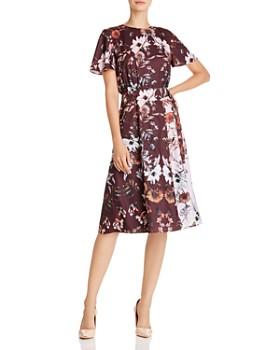 Ted Baker - Yaela Amethyst Color-Blocked Floral Dress - 100% Exclusive