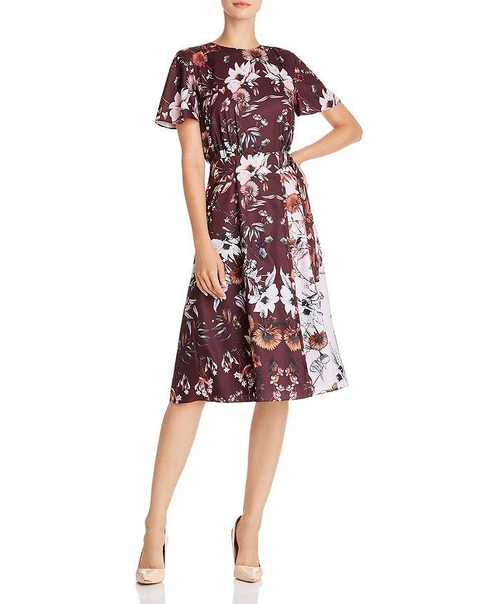 Ted Baker - Yaela Amethyst Color-Blocked Floral Dress - 100% Exclusive
