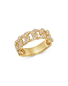 Moon & Meadow - Diamond Chain Ring in 14K Yellow Gold, 0.51 ct. t.w. - 100% Exclusive