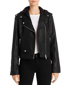 Pistola - Dakota Hooded Faux Leather Moto Jacket