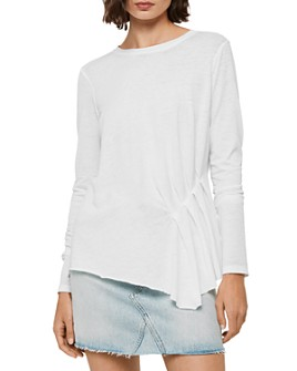 ALLSAINTS - Duma Asymmetric Pleated Tee