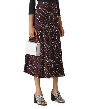 Whistles - Twig-Print Bias Cut Skirt
