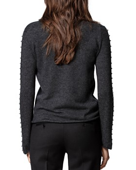 Zadig & Voltaire - Wool-Blend Studded Turtleneck Sweater