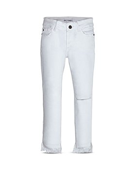 DL1961 - Girls' Chloe Distressed Step-Hem Skinny Jeans - Little Kid