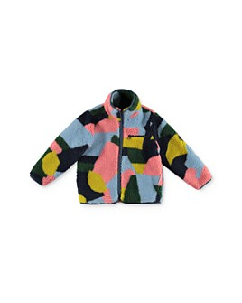 Stella McCartney - Girls' Color-Block Sherpa Jacket - Little Kid, Big Kid