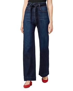 Sanctuary - Nonconformist Paperbag-Waist Wide-Leg Jeans in Riverstone