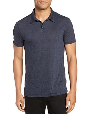 John Varavtos Star Usa Burnout Slim Fit Polo Shirt