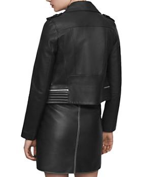 Maje - Basalt Leather Moto Jacket