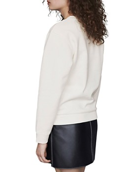 Maje - Telly Embroidered Sweatshirt