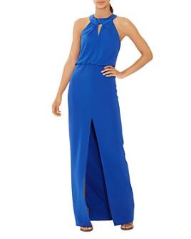 HALSTON - Keyhole Crepe Gown