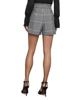 BCBGMAXAZRIA - Glen Plaid Paperbag-Waist Shorts