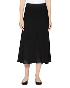 Misook - Multi-Stitch Knit Midi Skirt
