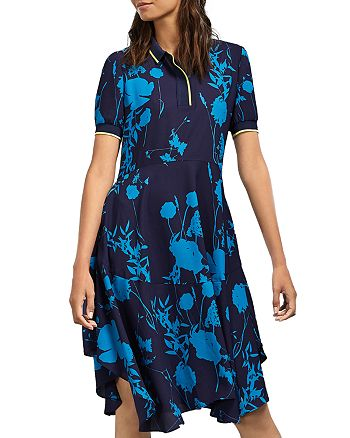 Ted Baker - Bluebell Floral-Print Collared Midi Dress
