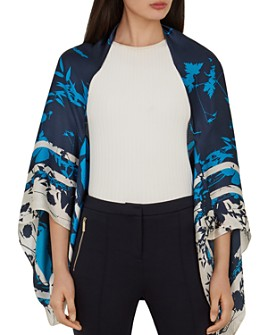 Ted Baker - Ppaula Bluebell Silk Cape Scarf