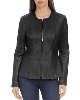 Badgley Mischka - Peplum Leather Jacket