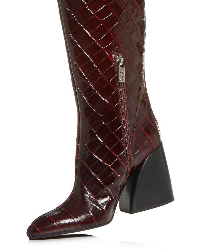 120506354ae Women's Wave Croc-Embossed Block-Heel Boots