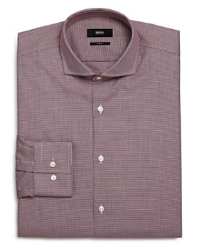 BOSS - Jason Micro-Houndstooth Slim Fit Dress Shirt