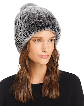 Maximilian Furs - Knit Rabbit Fur Hat